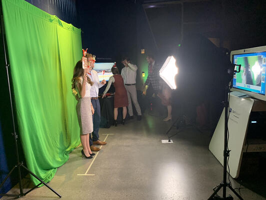 Behind the Scenes Green Screen photo