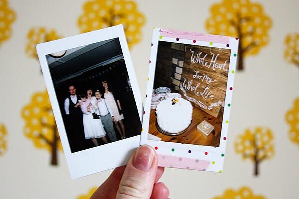 instax mini family wedding pics