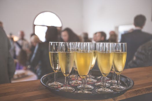 Champagne at social event