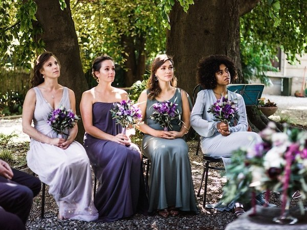 ultra violet wedding bridesmaids