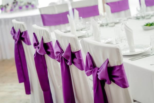 ultra violet wedding chairs
