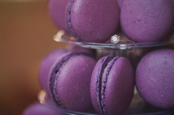 ultra violet wedding macarons