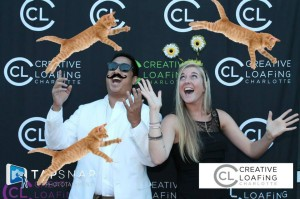Flying cats digital props photo booth rental