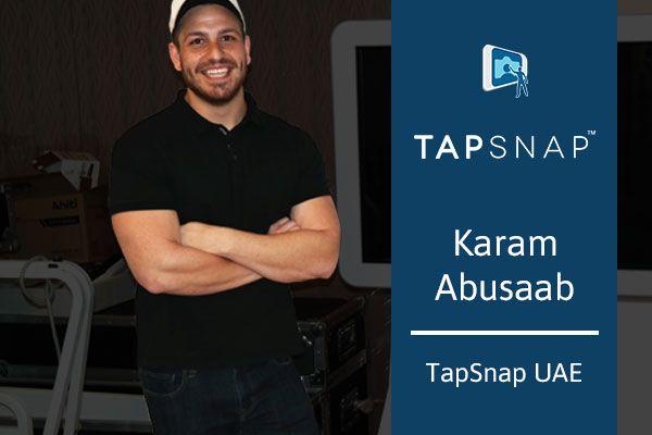Photo of Karam Abusaab of TapSnap UAE