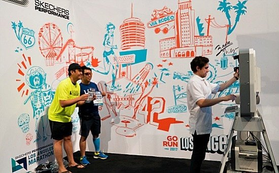 photo booth at skechers performance LA marathon 2017