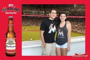 TapSnap 1029 at opening day for the Miami Marlins