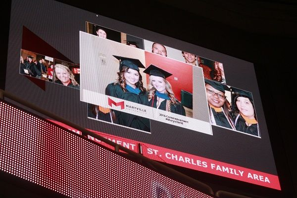 photo booth at Maryville University's Commencement