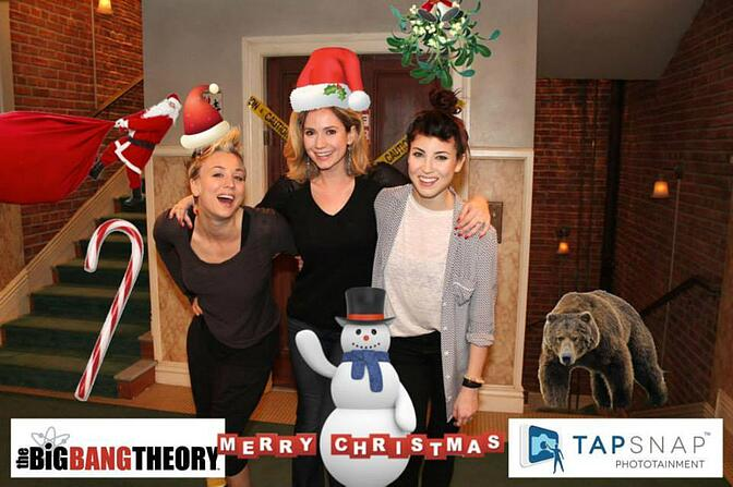 TapSnap photo booth rental Joins The Big Bang Theory's Holiday Party