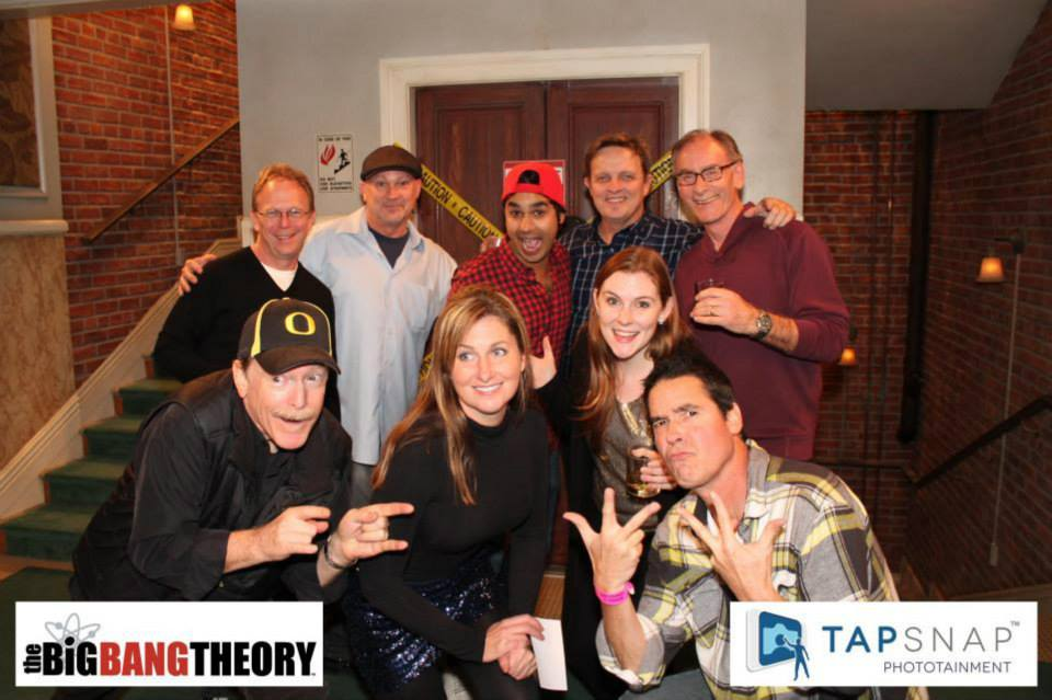 TapSnap photo booth rental Joins The Big Bang Theory's Holiday Party