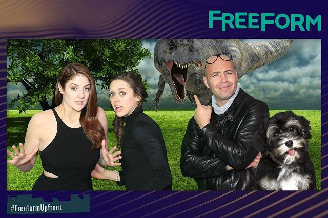Billy Zane, Emily Tremaine, and Daisy Head- photo booth celebrities use