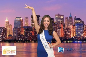 Miss New York at the Team Heroes charity event