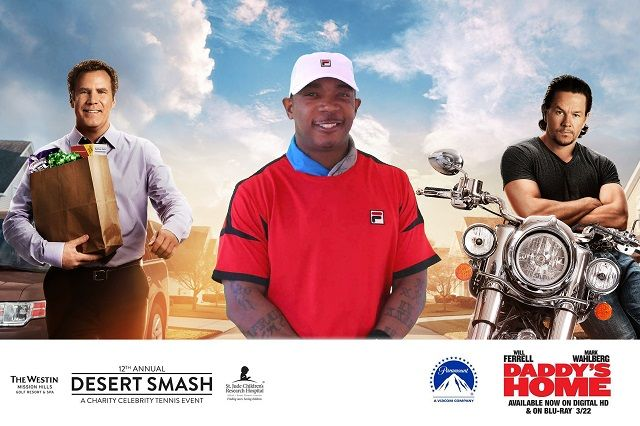 Ja Rule poses for a TapSnap photo booth picture at Desert Smash