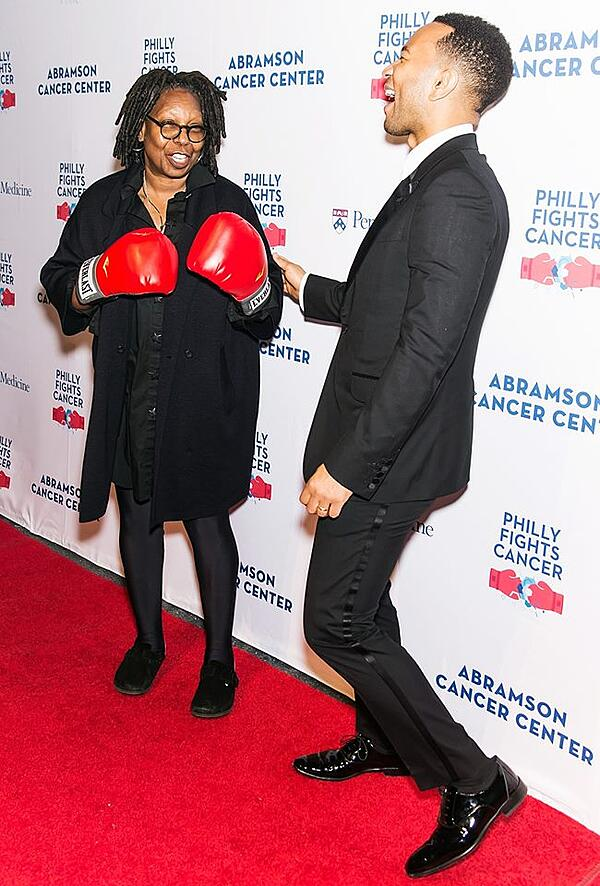 Whoopi Goldberg and John Legend Philly Fights Cancer