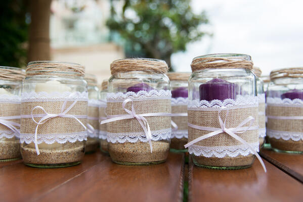 jar light wedding favor
