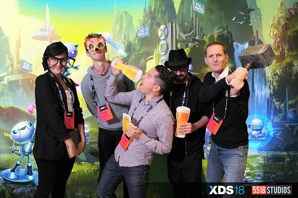 XDS Games conference photo booth